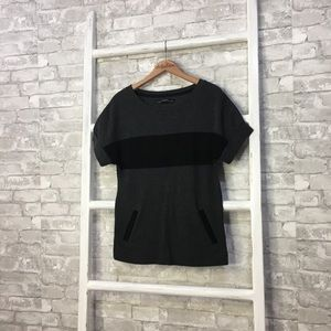All Saints Diego Tee Gray Short Sleeve Size Small